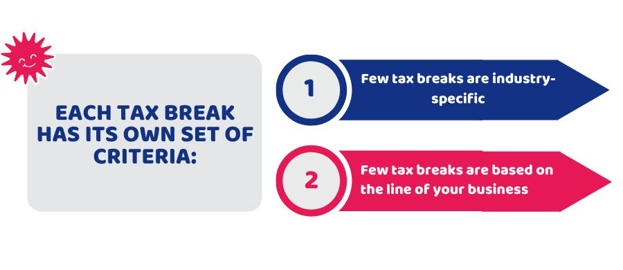 Tax Break Criteria