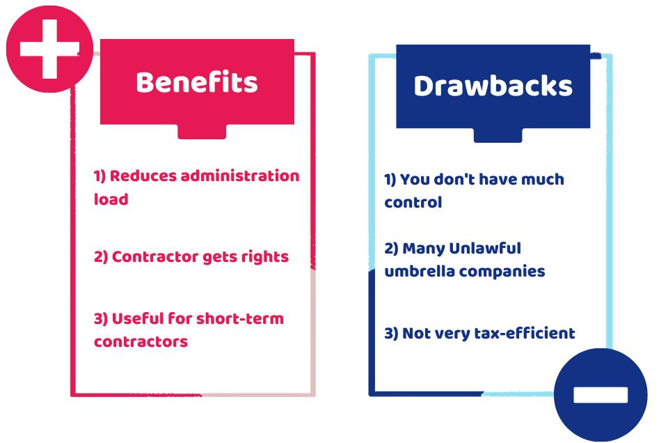 pros and cons of umbrella company
